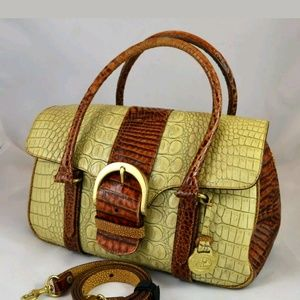 Brahmin Tricolor Leather Collection Purse